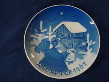 1967 Christmas Plate Bing & Grondahl B&G Sharing The Joy Of Christmas