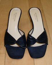 Arti Fiorentine Made In Italy Wms Black Fabric Slides Heels 7.5