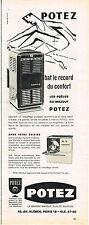 PUBLICITE ADVERTISING   1959    POTEZ  poele à mazout