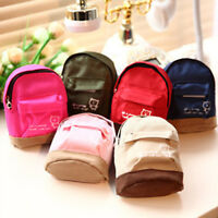 Mini Small Cute Womens Lady Girl Pouch Coins Purse Backpack Canvas Bags Walle~*