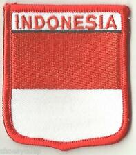 INDONESIA CREST FLAG WORLD EMBROIDERED PATCH BADGE