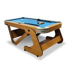Pool Table Snooker Billiards Games Folding Home Bar Cues Balls Wood Look 6.5ft