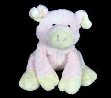 """Ganz Bellbottom Pig Plush Pink Cream Floppy 6"""" NO Sound H7327 Stuffed Toy"""