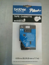 "New Brother TC-20Z1 3/8"" Black on White P-touch Label Tape 9mm"
