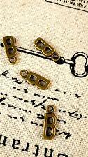 Alphabet letter B charm bronze vintage style jewellery supplies C32