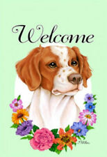 Welcome Flowers House Flag - Brittany 63071