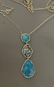 New KENDRA SCOTT Nina Abalone & Druzy Pendant Necklace $118.00