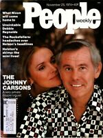 JOHNNY CARSON People Magazine November 25, 1974 with label