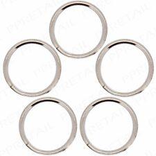 5x Strong Steel Split Key Rings 30mm Metal Nickel Silver Round Double Chain Link