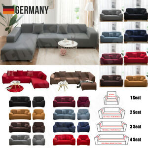 1/2/3/4 Sitzer Sofahusse Sofabezug Abdeckung Überwürfe Stretchhussen Universal