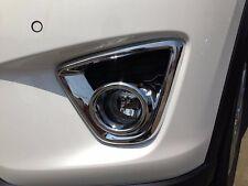 New 1Pair Chrome Front Fog Light Lamp Cover Trim For Mazda CX-5 CX5 2012-2014