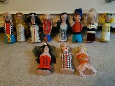 11 Vintage Retro Dolls Puppets 1960s / 70s Approx. 7.5 to 8 inches tall.