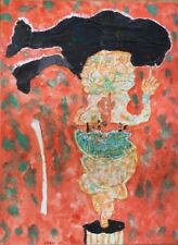 Hugh WEISS 1925-2007.Un chapeau de velours.1997.Acrylique/toile.SBG.70x50.