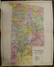New York, New Century Atlas, 1912 Franklin County, Authentic U1#50