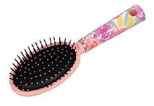 Ladies Girls Paddle Oval Cushion Brush - Pink - Gentle Detangler FREE SHIPPING