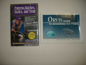 PATTERNS, HATCHES, TACTICS, AND TROUT BOOK & ORVIS GUIDE TO BEGINNING FLY TYING