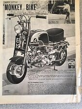 HONDA MONKEY BIKE CZ100 Comic Cutaway Full Page Black and White - Rare UK