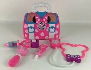 Disney Junior Minnie Mouse Bow-Care Doctor Bag Play Set Nurse Kit Stethoscope