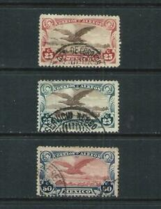 MEXICO _ 1922 'GOLDEN EAGLE' AIR SET of 3 _ USED ____(704)