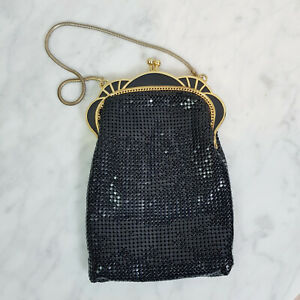 HOUSE OF MESH | Womens Black Mesh Small Evening Bag Vintage - Made in Australia