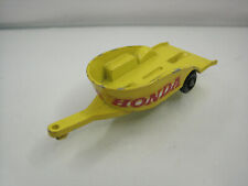 Diecast Matchbox Lesney Honda Motor Trailer No.38 Yellow Good Condition