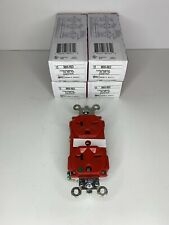 PASS & SEYMOUR 8800-RED Hospital Grade Duplex Receptacle (LOT OF 4)