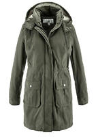 Bonprix Long Batting Jacket Dark Olive UK Size 16 VR132 01