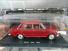 Seat (español Fiat) 124 l 124l 1969 oscuro rojo red fabbri 1:24