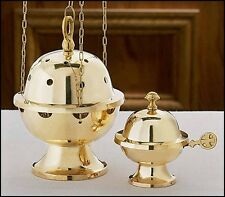Brass Censer and Boat Set NEW (JS834) Catholic Church Mass