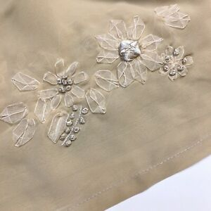 """Sheer Voile Window Scarf Shabby Cottage Chic Ribbon Floral Embroidered 216""""x54"""""""