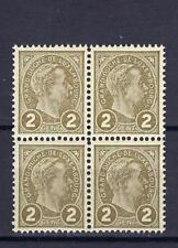 Luxembourg 1895 Sc# 71 Adolphe Grand Duke blocks 4  MNH