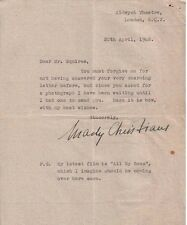 MADY CHRISTIANS (1948 LETTER) SIGNED AUTOGRAPH