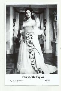 N942) ELIZABETH TAYLOR SWIFTSURE (45/390) PHOTO POSTCARD FILM STAR PIN UP