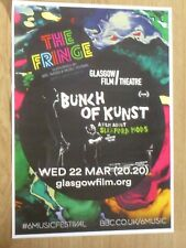 Bunch Of Kunst - A Film about Sleaford Mods - Glasgow march 2017 gig poster