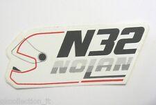 VECCHIO ADESIVO MOTO / Old Sticker Vintage NOLAN HELMETS CASCO N32 (cm 7 x 3)