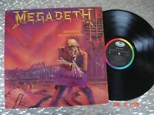 """Megadeth  """" Peace Sells... But Who's Buying?""""   LP  Capitol Records ST-12526"""