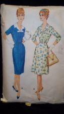 1960 Half Size Stylish Vintage Dress Pattern Size 14 1/2