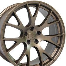 """22"""" Hellcat Style Wheels For Dodge Ram 1500 Dakota Durango Bronze (Rims Set 4)"""