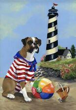 """Precious Pets Garden Flag - Boxer Beach Baby 12"""" x 18"""" ~ Charity!!"""