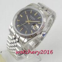 36mm parnis Saphirglas Date MIYOTA 8215 Automatisch movement Uhr men's Watch