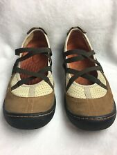 PRIVO Clarks Women's Size 7.5 M Flats Loafers Brown Leather Rugged Soles EUC