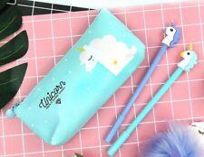 1Set Pencil Case Unicorn Quality PU School Supplies Stationery Set Pencil Box