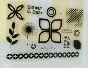 CTMH Dreamin stamp set clear acrylic flowers designs backgrounds border C1482