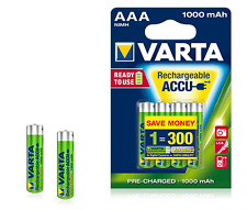 4x Varta Akku AAA Micro Rechargeable Accu 1000 mAh NiMH Blister 5703