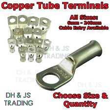 Copper Tube Terminals Terminal Battery Welding Cable Lug Ring Crimp (All Sizes)