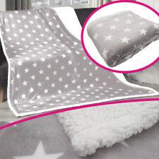 Plaid 150x200cm gris étoiles Couvre-lit hiver Couverture Couvre-lit COUVRE-LIT