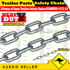 8mm Galvanized Trailer Safety Chain -300mm Long- 1600Kg Rated - Stamped 4177-16
