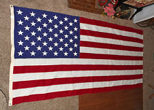 Embroidered 50 Star American Flag 57x115 inch North Bay Industries Made in USA