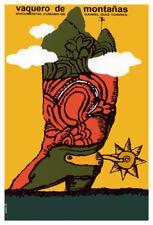 Movie Poster for film Vaquero de montana.Cowboy Boot.Home Room art decor design