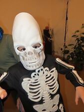 skeleton fancy dress and mask boys girls 5-6 years helloween party 110-116 cm